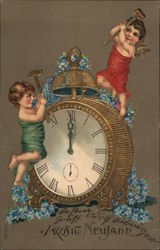 Angels Ringing Clock Bell