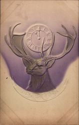 Benevolent and Protective Order of Elks Logo - Elk Head and Clock