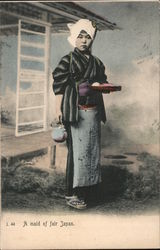 A Maid of fair Japan Postcard