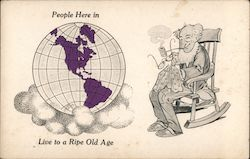 People Here In ____ Live to A Ripe Old Age Postcard