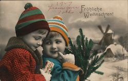 Children Dressed Up for Winter