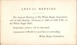 Annual meeting of the White Eagle Committee Postcard