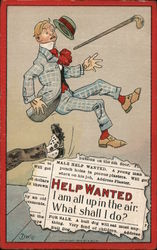 Help Wanted Postcard