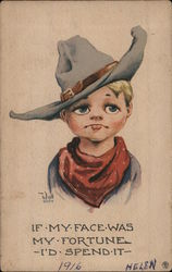 Drawing of Young Cowboy