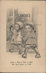 Little Boy and Girl at the Candy Store