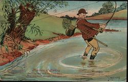 Humors of Fishing - Don't Try and Pull the Trees Down; They are Much Stronger Than Your Rod.""