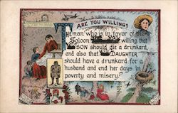 Are You Willing? Temperance Poem, A.T. Cook and J.O. Hulbert