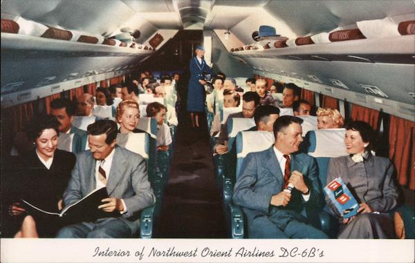 Interior of Northwest Orient Airlines DC-6B's Aircraft