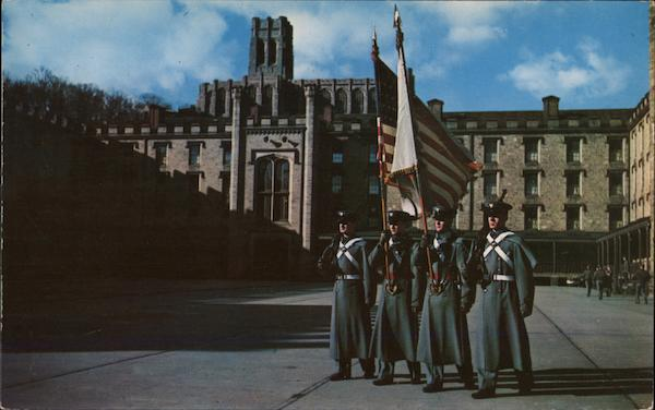 Color Guard of Cadets in Central Barracks West Point New York