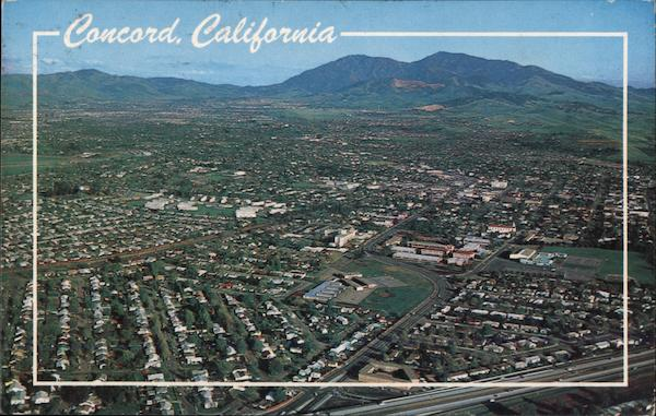 Aerial View with Mt Diablo in the Background Concord California