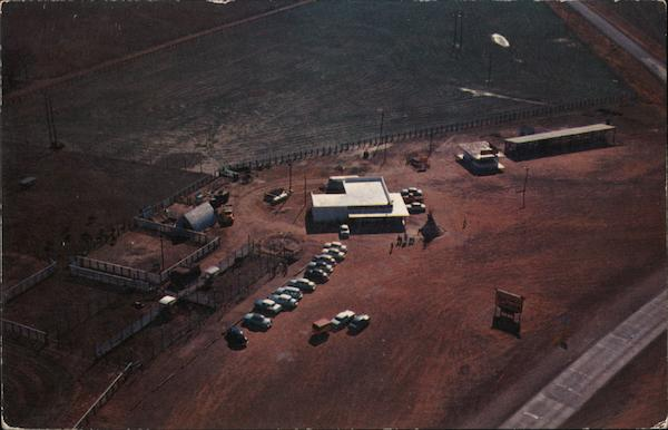 Aerial View of Buffalo Ranch Headquarters Afton Oklahoma