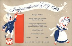 United Airlines Menu, Independence Day 1962