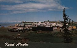 Small Boat Harbor and Dock Area Postcard