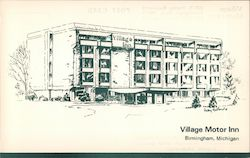 Village Motor Inn Postcard