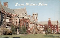 Emma Willard School, Library, Slocum and Sage Halls Postcard
