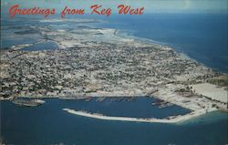 Airview of Key West Postcard