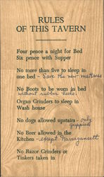 Rules of this Tavern: Griswold Inn