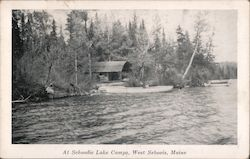 At Schoodic Lake Camps Postcard