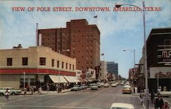 View of Polk Street, Downtown Postcard