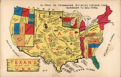 Texans Map of U.S.A.