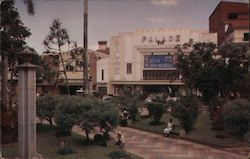 Parque Central Y Cine Palace Postcard