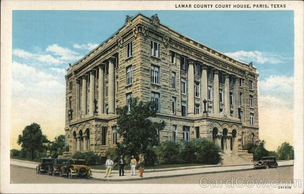 Lamar County Court House Paris, TX Postcard