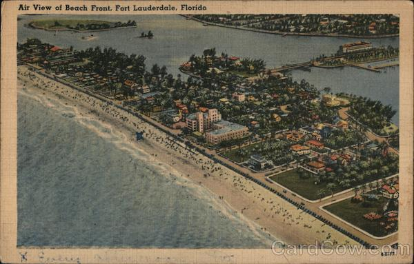 Air View of Beach Front Fort Lauderdale Florida