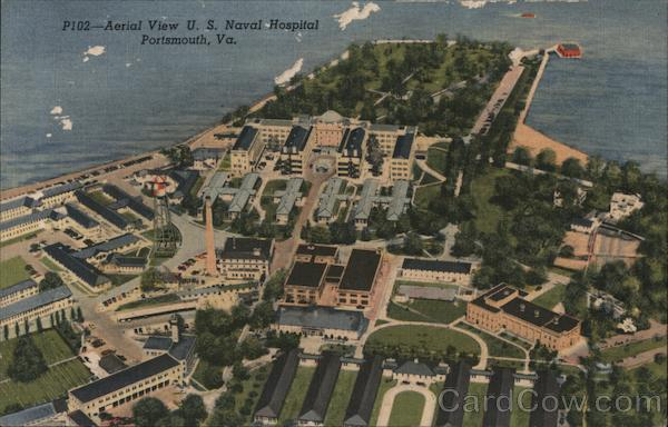 Aerial View US Naval Hospital Portsmouth Virginia