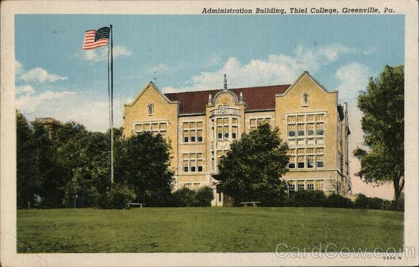 Administration Building at Thiel College Greenville Pennsylvania
