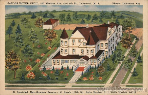 Jacobs Hotel Cecil Lakewood New Jersey
