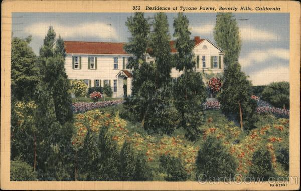 Residence of Tyrone Power Beverly Hills California