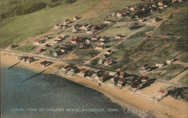 Aerial View of Chalker Beach Old Saybrook Connecticut