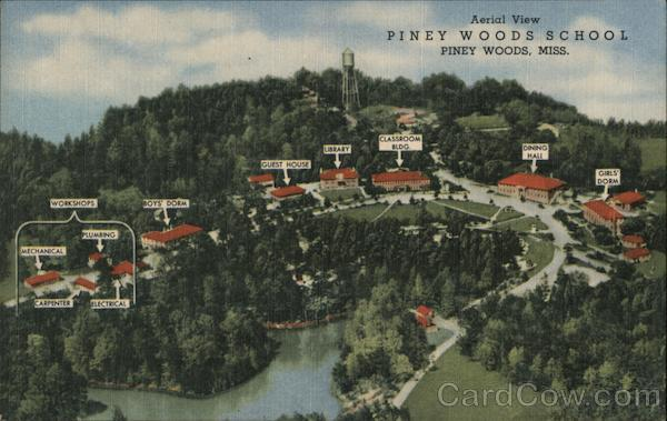 Aerial View, Piney Woods School Mississippi