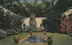 Memory Garden, Thomas A. Edison Winter Home Postcard