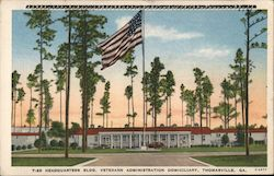 Headquarters Building, Veterans Administration Domiciliary Postcard