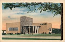 Radio Station W.M.U.U., Bob Jones University Postcard