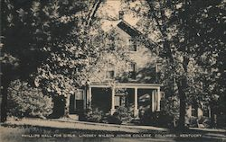 Phillips Hall for Girls, Lindsey WIlson Junior College Postcard