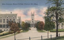 Main Entrance, Boston College Postcard