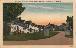 The Open Gate, On Routes 25 and 3A Postcard