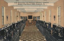 Bacteriology and Pharmacy Laboratory Classroom Hospital Corps School, USNH