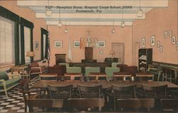 Reception Room, Hospital Corps School, USNH