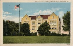 Administration Building at Thiel College Postcard