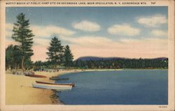 Moffit Beach at Public Campsite on Sacandaga Lake