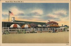Beach Club Watch Hill, RI Postcard