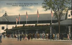 Entrance to Grand Stand, Saratoga Race rack
