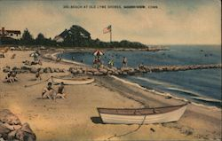 Beach at Old Lyme Shores Postcard