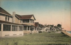 Shore Front Cottages, Grove Beach Postcard