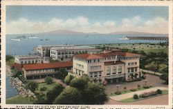 Manila Bay and Elks' and Army and Navy Clubs Postcard