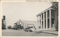 Oldest Railroad Office Building in America Postcard