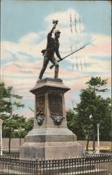 Monument to the National Hero Juan Santa Maria Postcard